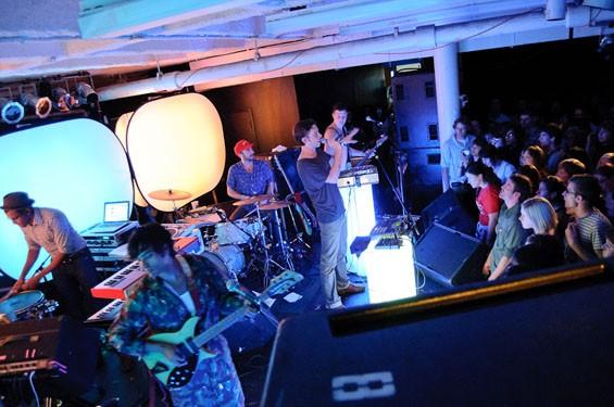 Yeasayer last night at the Gargoyle. See a full slideshow from last night's Yeasayer show at the Gargoyle here. - PHOTO: JASON STOFF