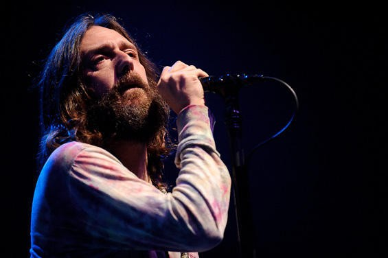 Chris Robinson of the Black Crowes. An entire slideshow of photos is right here. - TODD OWYOUNG