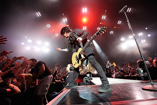 From last night's show at the Scottrade Center. See more photos of Green Day last night. - PHOTO: TODD OWYOUNG