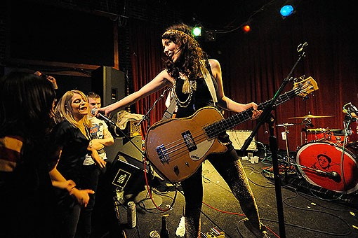 Those Darlins last night at Off Broadway. See more photos from last night's show. - PHOTO: TODD OWYOUNG