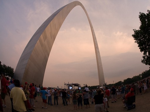 The Arch during the concert with Sheryl Crow on July 11. See more photos. - PHOTO: STEW SMITH