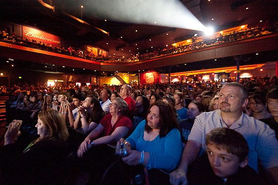 The crowd for Butch Walker last night at the Pageant. - PHOTO: TODD OWYOUNG