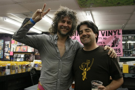 Just a regular day at Vintage Vinyl for Wayne Coyne of the Flaming Lips (left) and Jim Utz. - CHRISSY WILMES