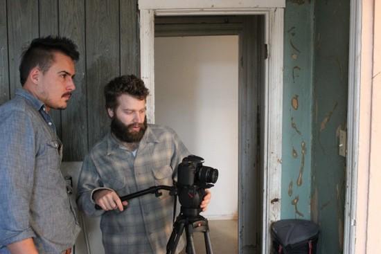 Carroll Keane and Benjamin Koenig work on a shot. - KIERNAN MALETSKY
