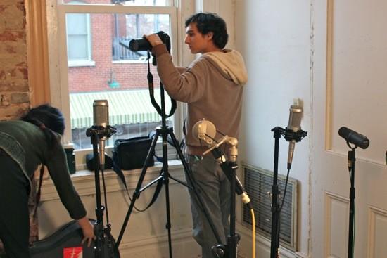 Jacob Berkowitz on the set of the Other Lives shoot. - KIERNAN MALETSKY
