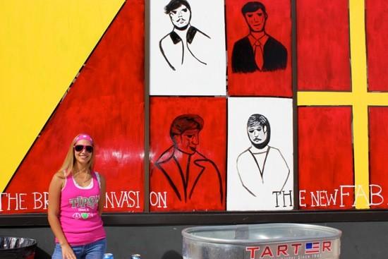 Rachel Wade in front of Tipsy's bar. - PHOTOS BY KIERNAN MALETSKY