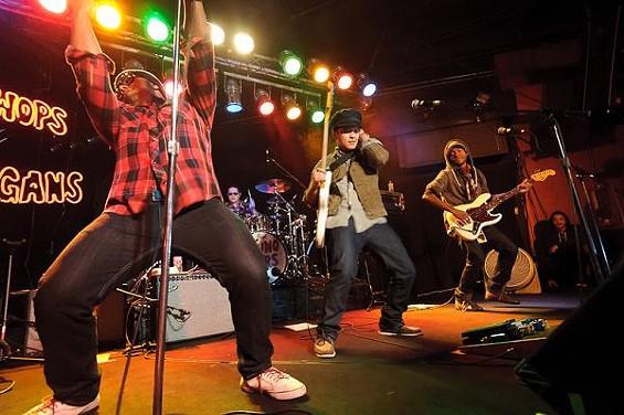 Bruno Mars and band at Pop's - JASON STOFF