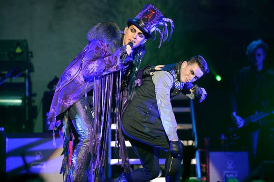 Adam Lambert last night at the Pageant. More photos from the night right here! - TODD OWYOUNG