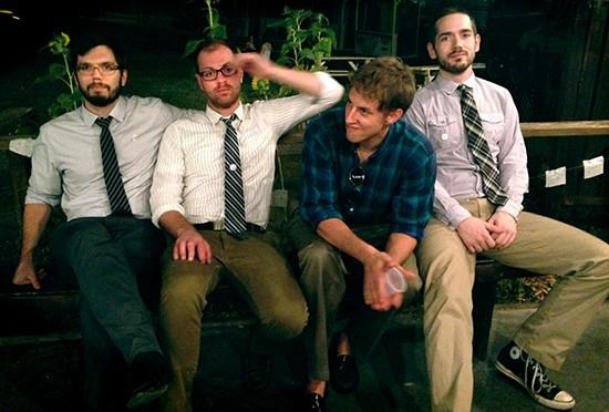 Jack Buck is Daniel Ruder, Chase Macri, Colin Webb and Michael Gerhardt. - COURTESY OF JACK BUCK