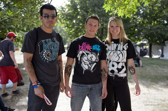 A trio of Blink-182 fans. There are more to come. - ALL PHOTOS BY ERIK HESS