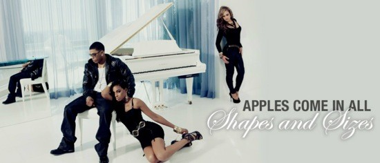 AN ADVERTISEMENT FOR NELLY'S LINE OF APPLE BOTTOM JEANS.
