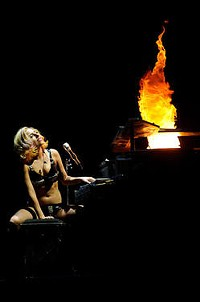 Lady Gaga at the Scottrade Center, July 2010 - TODD OWYOUNG