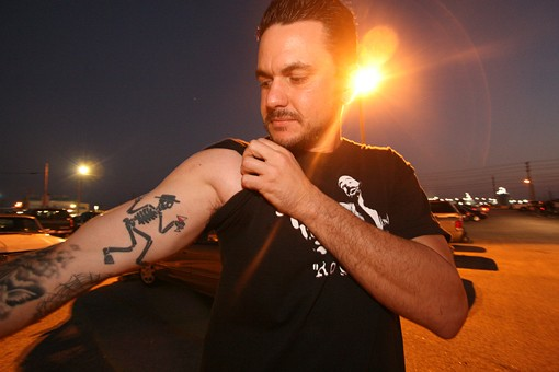 A Social D fan shows off his tattoo. See more Social D fan tattoos from last night. - PHOTO: NICK SCHNELLE