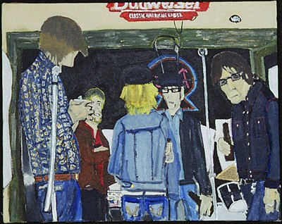 The Phonocaptors at CBGB, painting by Dana Smith