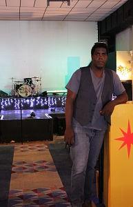 Marquis Kisart inside the Melvin Theater - CASSIE KOHLER