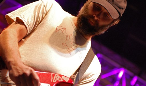 Doug Martsch of Built to Spill massages his tremelo bar.