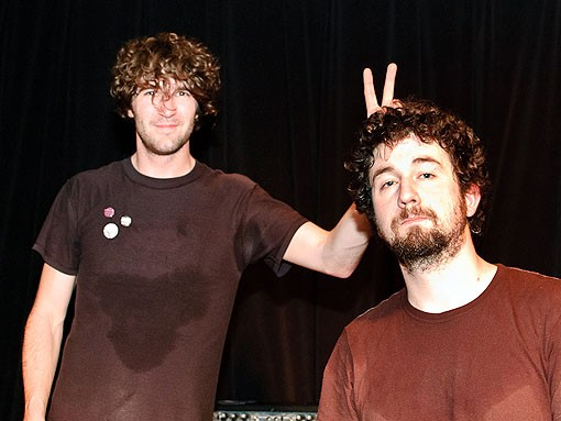 Brian King and David Prowse of Japandroids, post-rocking. See more photos from last night's show in our slideshow. - PHOTO: JASON STOFF