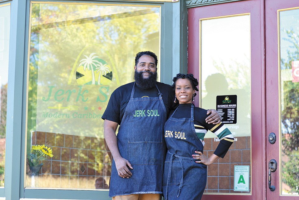 Telie Woods and Zahra Spencer opened their restaurant, Jerk Soul, in a neighborhood they saw as having everything needed for success. - TOM HELLAUER
