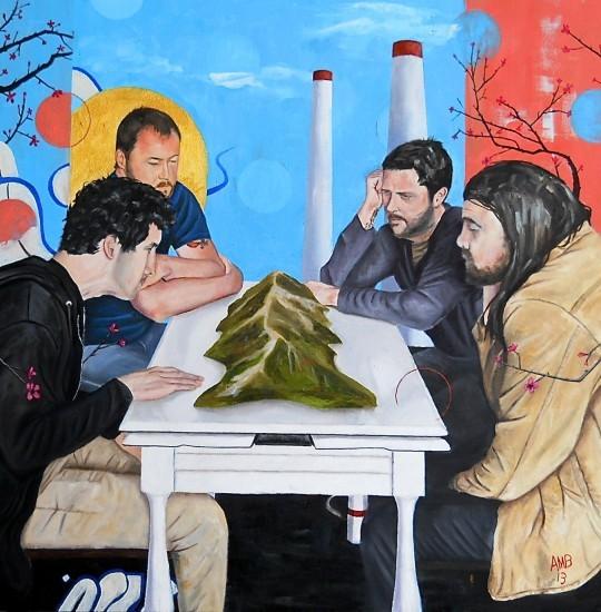 Andy Brandmeyer's custom painting for Anti-Glacial album art. - COURTESY OF ANDY BRANDMEYER