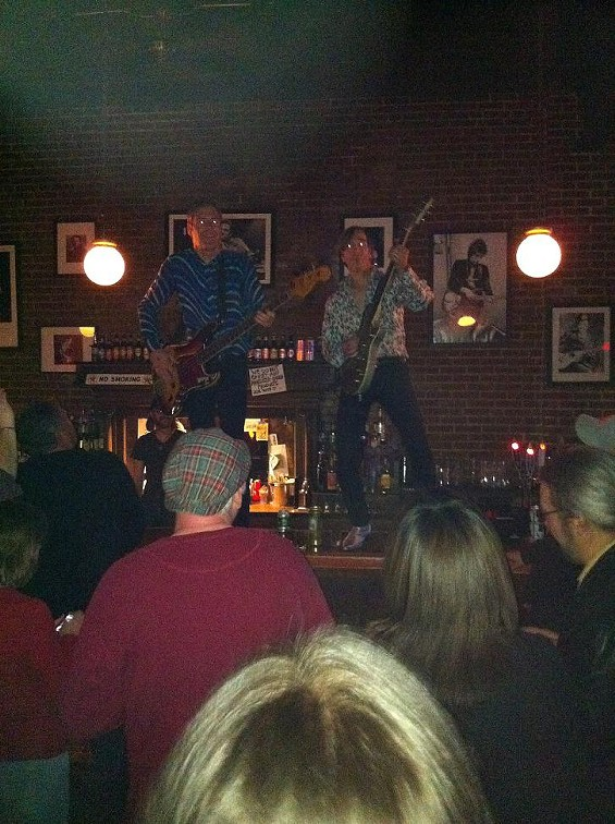 The Fleshtones atop Off Broadway's bar - CHRISTIAN SCHAEFFER