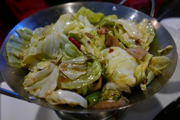 The grilled brussels sprouts look like cabbage. But they were super tasty nevertheless. - DESI ISAACSON