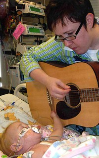 Christy Merrell, music therapist at St. Louis Children's Hospital