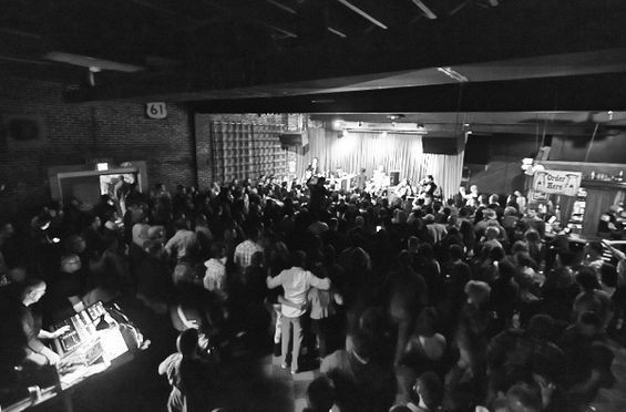 Kentucky Knife Fight performed their final show to a sold-out crowd at Off Broadway. - PHOTO BY THEO WELLING