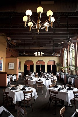 The dining room at Harry's Restaurant and Bar. - LAURA MILLER