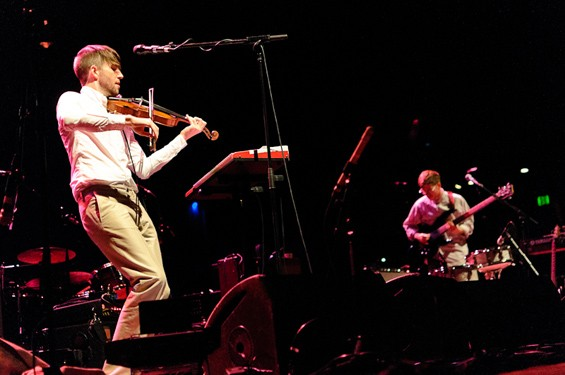 Owen Pallett performing at the Pageant. Click here for a full slideshow from The National at the Pageant. - JASON STOFF