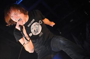 Thursday lead singer Geoff Rickly screams up a storm at a 2009 show at The Pageant. The post-hardcore group announced in November that it will be going on an indefinite hiatus. - RFT FILE PHOTO