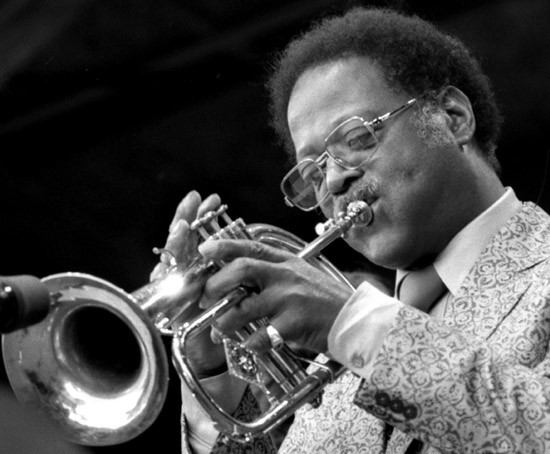 Clark Terry at the Monterey Jazz Festival in 1981. - /COMMONS.WIKIMEDIA.ORG / BRIAN MCMILLEN