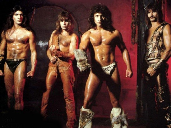 Manowar is excellent for driving wimps and posers out of the hall. - PRESS PHOTO DATING BACK TO THE STONE AGE.