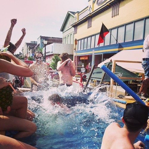 Image captured at last year's Dumpster Pool Party - FACEBOOK.COM/THEFORTUNETELLERBAR