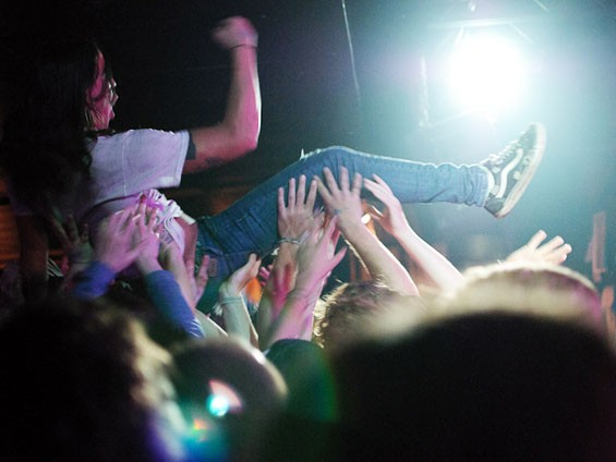 A fan crowd-surfs during the Black Lips on Wednesday night at the Firebird. See full slideshow here. - PHOTO: JASON STOFF