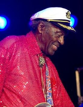 Chuck Berry at Kiener Plaza, July 29, 2010 - ERIN KINSELLA