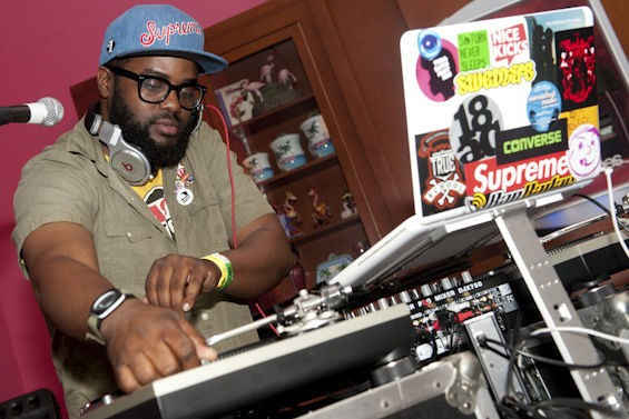 DJ Needles in 2012. He performs on Friday as part of KDHX's Art Attack. - JON GITCHOFF