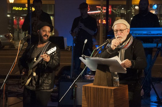 Brothers Lazaroff and friends perform at the 2014 Hanukkah Hullabaloo at Create Space in University City. Proceeds went to Camp Manitowa's Camp Ferguson fund, and donations still are accepted here. See more Hullabaloo photos here. - MICAH USHER