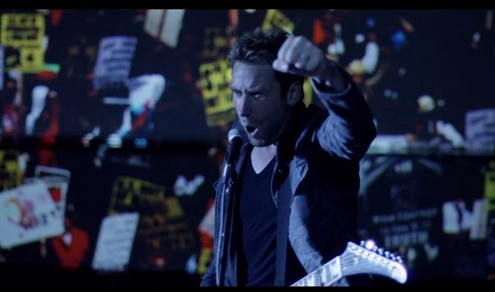 Nickelback's Chad Kroeger, modern-day revolutionary. - SCREENSHOT FROM THE SONG'S VIDEO, BELOW.