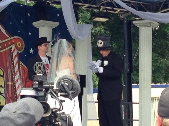 Tiffany and Dip Set, juggalo bride and groom, exhange vows. - DREW AILES