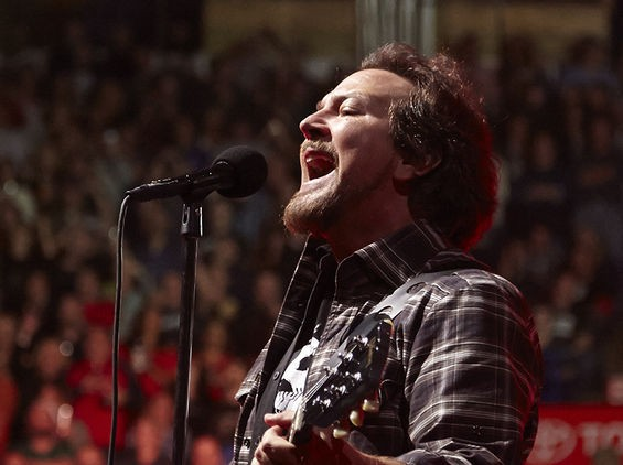 Eddie Vedder performs with Pearl Jam at Scottrade Center on October 3, 2014. See more photos here. - STEVE TRUESDELL