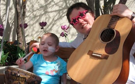 Christy Merrell, music therapist extraordinaire at Children's Hospital.