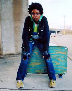"""Syna So Pro's Syrhea Conaway has been undertaking a capella """"SMASHups"""" of local music."""