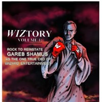 GAREB SHAMUS -- THE FOUNDER OF WIZARD ENTERTAINMENT -- MAY BE DOWN. BUT ST. LOUIS' CHRIS WARD IS TRYING TO PROP HIM BACK UP.