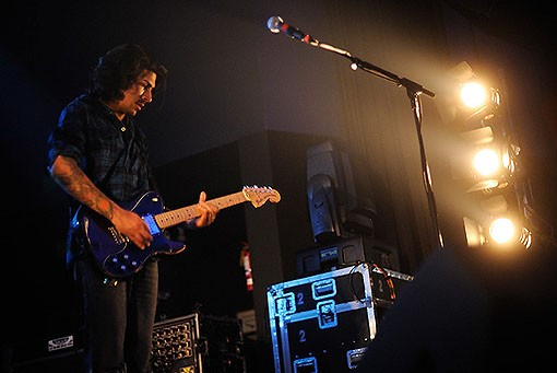 Vincent Accardi of Brand New last night at the Pageant. See more photos from last night's show. - PHOTO: TODD OWYOUNG