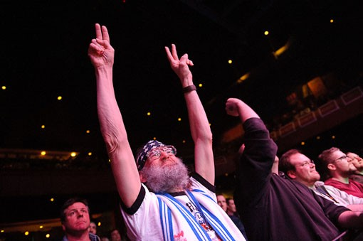 A Led Zeppelin fan last night for Celebration Day at the Pageant. See full concert slideshow. - PHOTO: TODD OWYOUNG