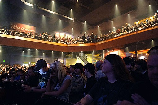 The sold-out Pageant last night. See a full slideshow from last night here. - PHOTO: TODD OWYOUNG