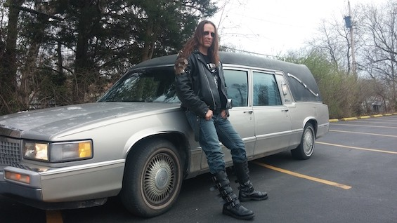 """Nothing says """"Misfits"""" more than driving around a car that used to haul dead people. - NIKKI STRYCHNINE"""