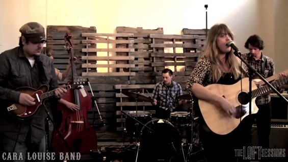 The Cara Louise Band - SCREENSHOT FROM THE LOFT SESSIONS VIDEO BELOW.