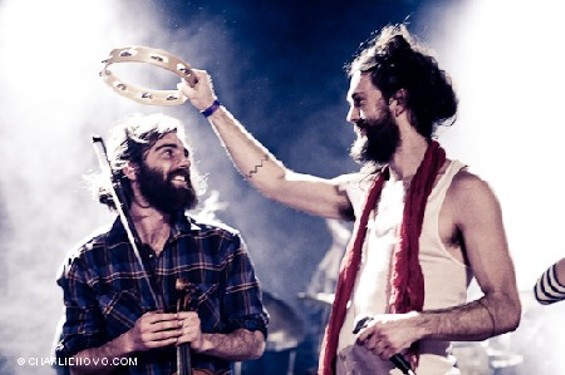 Nathaniel Markman with Edward Sharpe and the Magnetic Zeros' Alex Ebert - THEBAYBRIDGED.COM