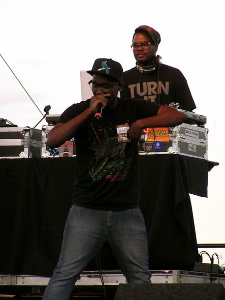 Spade's lil brother Tef Poe and DJ Needles. View more photos.